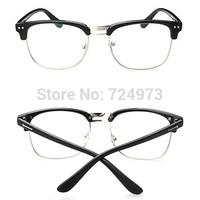 Noble style outdoors fashion unisex Metal half-frame optical eyeglasses frames/women men brand lighter fashion glasses