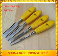 Free shipping Hotsale woodworking chisel knife carpenter's tool 4pcs/set