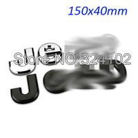 50pcs Boot Chrome Black ABS Badges Sticker Emblem 150x40mm