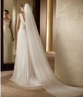 Marriage Bride Long Veil Double Layers 3m Length Mantilla With Comb Wedding Dress Accessaries wv038