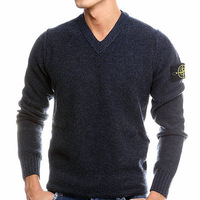 fashion black stone sweaters business men Sweaters slim fit kintted Sweaters pullover hot sale Sweden