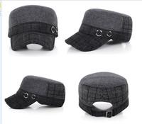 1pc/lot New Classic Brand Visors 2014 Men Flat Top Outdoor Winter Warm Thermal Snapback Woolen Cloth Bone Cap 673466