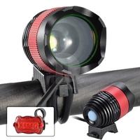 Zoomable 1800 lumens CREE XML T6 LED Bicycle Bike Light Headlamp Headlight New 016127 Free Shipping