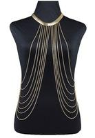 Sexy Brand Body Chain Bikini Tassel Body Chains Gold  Necklace Jewelry For Women Hot Sale