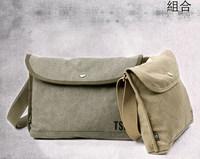 Korean version of schoolbags canvas bag casual bag unisex shoulder bag diagonal bag Free shipping