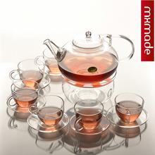 Handmade  The teapot  + 5pcs teacup  /  coffe sets /   transparent glass tea set slip-resistant teaports 800ml