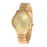 2015 Luxury Brands Roman Numerals Golden Watch Quartz Watches, Men'S Fashion Style