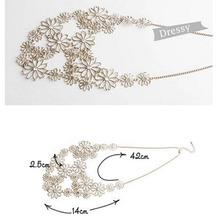 HOT Women Fashion Chain Jewelry Flower Bib Choker Pendant Statement Necklace