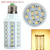 High quality Warm White E27 SMD 5050 60 LED Corn Bulb Light 360 Degree Spot Lamp 220V For 2014 top