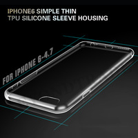 Hot Sale Soft Transparent Cover Case for iphone 6 4.7 inch Shockproof Ultra Slim TPU Pure Protective Silicon Free Shipping