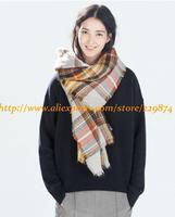 New Women Autumn Winter Brand Z Scarf Lady Vintage Plaid Shawl