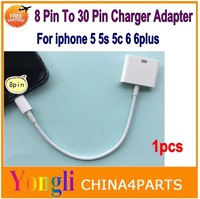 8 Pin To 30 Pin Connector Charger Adapter Cord Chargring Cable For iPhone 6 5S 5C IPAD 4 Mini Air to iphone 4S Dock Charger Wire
