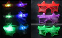 2014 Halloween Christmas Birthday Party Make up Club Nice Glow LED glasses supplies Pvc Random colors 12pcs/lot
