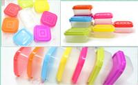 10 pcs/set size small Plastic  Refrigerator Keep Fresh Food Container Divided  storage Box makeup Organizer picnic