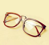 NEW 2014 Retro Designer plastic Women Glass Frames Clear Lens Slim Legs Vintage Glasses 5 Colors Oculos De Sol GL-5274