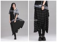Women Stylish Hip Hop Street Dance Baggy Harem Hippie Pants Big-crotch Casual Strip Boots Pants Fashion Pants Free Size FS3039