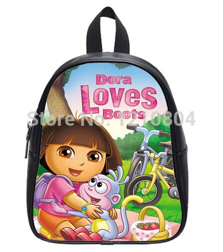 Crianças mochila personalizado dos desenhos animados Dora the Explorer impresso saco de escola estudantes como presentes(China (Mainland))