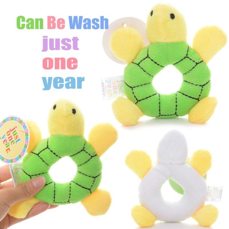 Baby Development Plush Green Turtle Rattles Toy Hand Bell Train Doll 6*4'' New #LN(China (Mainland))