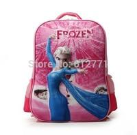 "2015 Creative 3D Animation High quality hello kitty ben10 16"" school bag students travel bag kids cartoon backpack children gift"