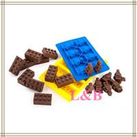 2pcs / Lot Silicone Cake Bakeware Brick Figure Set Silicone Mould Mold Chocolate Mold Ice Cube
