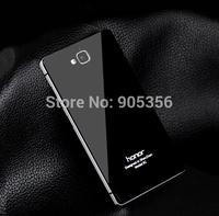 Honor 3C Ultra thin Metal Aluminum Frame Toughened Tempered Gorilla Glass Back Case For Huawei Honor 3C Phone Bag + Free Film