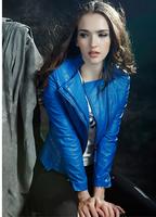 Fashion Designer Slim Short Leather Suit Jacket Coat For Women Punk Europe Street Cool Female Clothing Autumn Spring Outwear