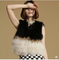 New Korean imitation wool Beach Faux fur coat short paragraph female grass Vest  free shipping