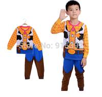 new childen long sleeve pijamas toy story woody boys pajama set cartoon baby children boys sleepwear clothing set