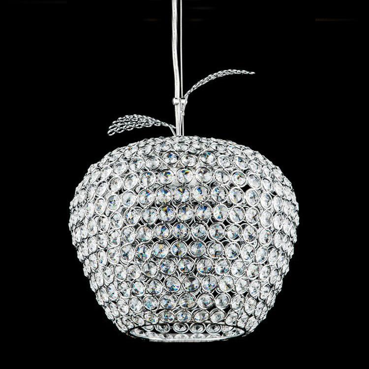 Free shipping apple design modern crystal pendant light lustres e pendentes home decor fixture lighting Dia20cm crystal lamp(China (Mainland))