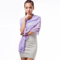 Yiwu scarves wholesale custom Zhuang dream butterfly chiffon long towel scarf 50x160  DG8007