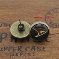30pairs/lot Star Trek black color earrings stud,LLD-0579,Movie Jewelry
