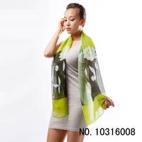 scarves wholesale custom Lily fairy loyer scarf 50*160 DG8005