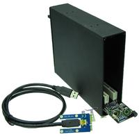 Free shipping mini PCI-e To 2 PCI slots adapter mini PCIe to dual PCI 32bit Riser Card + Enclosure