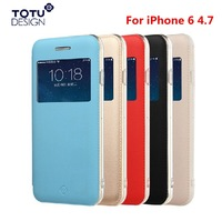 Original Brand TOTU Star Series View Flip Leather Case for iPhone 6 with Magnetic Adsorption
