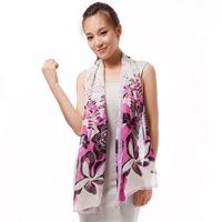 Selling scarves wholesale custom Korean flower fairy chiffon long scarf scarf 50x160 DG8010