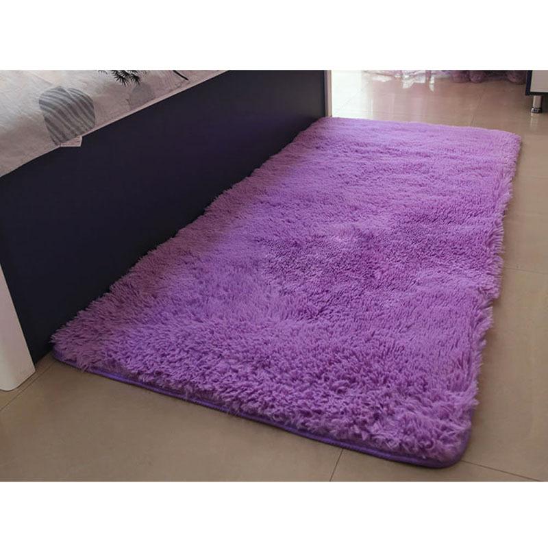 Soft Solid Anti-skid Carpet Living/Dining Bedroom Flokati Shaggy lanital Mat Rug Free Shipping #ZH182(China (Mainland))