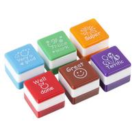 Teachers English School Self Inking Praise Reward Motivation Sticker Stampers