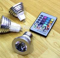 [Seven Neon]free shipping high quality AC220V 3W aluminum RGB LED spot light