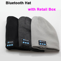 10pcs/Lot, Hot Fashion Wireless Bluetooth Knitted Hat Hands-free Music Speaker Winter Warm Running Sport Cap Free by DHL