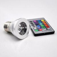 [Seven Neon]free DHL shipping 100pcs high quality AC220V 3W aluminum RGB LED spot light with control panel