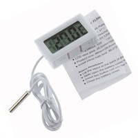 NEW Portable Temperature Tester Electronic LCD Digital Indoor Outdoor Weather Thermometer 2pcs/lot (black+white)