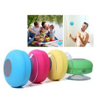 Portable Loudspeaker Wireless Waterproof Bluetooth Speaker Shower Car Handsfree Receive Call & Music Suction Phone Mic