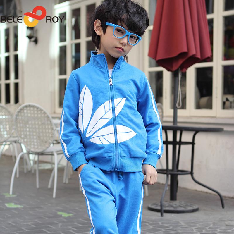 Novos outono inverno térmica crianças treino meninos Casual crianças define vestuário meninos casaco + calças 3 cores tamanho 5T--9T F211A225(China (Mainland))