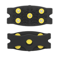 1pair High Quality Snow Ice Climbing Anti Slip Spikes Grips Crampon Cleats 5-Stud Shoes Cover