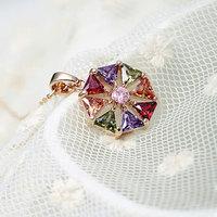Gemston Jewelry  Pendant Necklace with Multicolor AAA Zircon Stone Nickel, Cadmium free Jewelry