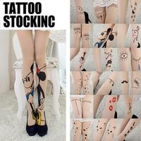 NEW Sexy Tattoo Cute Patterns Sheer Pantyhose Stockings Leggings 20 styles