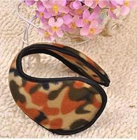 5 pcs / lot 2015 hot Practical Women Men Winter Ear Warmers warm after wearing camouflage plush earmuffs ear cover ear cap