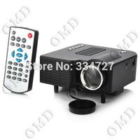 24W Portable Mini LCD Projector with HDMI / 3.5mm / SD Slot / AV / VGA / USB - Black