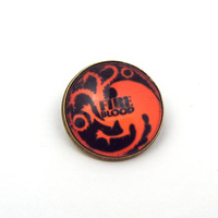 Movie Jewelry Song Of Ice And Fire Brooch Game of Thrones Glass Cabochon Brooch With Pin 12pcs/lot Free Shipping