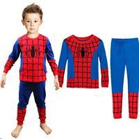 new 2014 spider man children clothing sets,fashion spiderman cosplay costume kids pajama sets,long sleeve toddler baby sleepwear